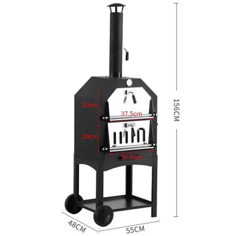 buy charcoal fired pizza oven online